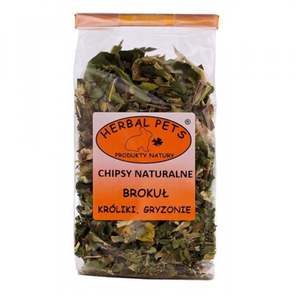 HERBAL PETS - chipsy naturalne z brokuła 50g