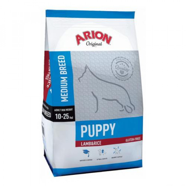 ARION Original Puppy Medium Lamb & Rice - sucha karma dla psa 12kg