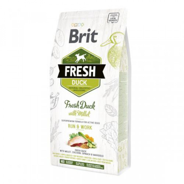 BRIT Fresh Duck With Millet Active Run&Work - sucha karma dla psa