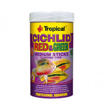 TROPICAL Cichlid Red & Green Medium Sticks - pokarm dla rybek 250ml (