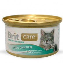 BRIT Care Cat Kitten Chicken - karma dla kota - puszka 80g