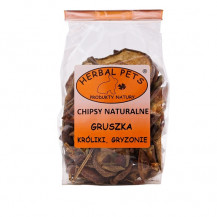 HERBAL PETS - chipsy naturalne z gruszki 75g