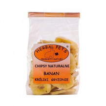 HERBAL PETS - chipsy naturalne z banana 75g