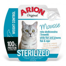 ARION Original Cat Mousse Sterilised - mokra karma dla kota - szalka 70g