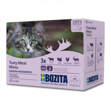 BOZITA Cat Multibox Meat Menu - mokra karma dla kota - saszetka 12x85g